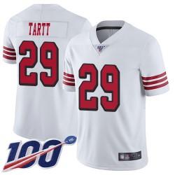 Limited Men's Jaquiski Tartt White Jersey - #29 Football San Francisco 49ers 100th Season Rush Vapor Untouchable