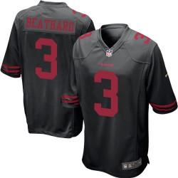 Game Men's C. J. Beathard Black Alternate Jersey - #3 Football San Francisco 49ers