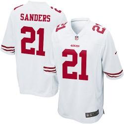 Game Men's Deion Sanders White Road Jersey - #21 Football San Francisco 49ers