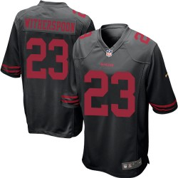 Game Men's Ahkello Witherspoon Black Alternate Jersey - #23 Football San Francisco 49ers