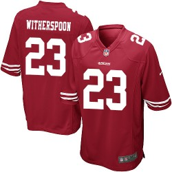Game Men's Ahkello Witherspoon Red Home Jersey - #23 Football San Francisco 49ers