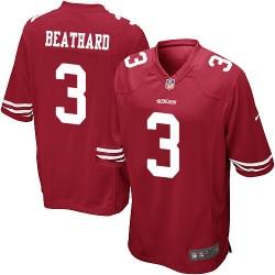 Game Men's C. J. Beathard Red Home Jersey - #3 Football San Francisco 49ers