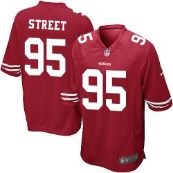 Game Men's Kentavius Street Red Home Jersey - #95 Football San Francisco 49ers