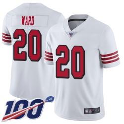 Limited Men's Jimmie Ward White Jersey - #20 Football San Francisco 49ers 100th Season Rush Vapor Untouchable