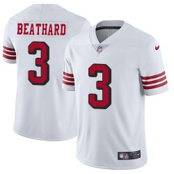 Limited Men's C. J. Beathard White Jersey - #3 Football San Francisco 49ers Rush Vapor Untouchable