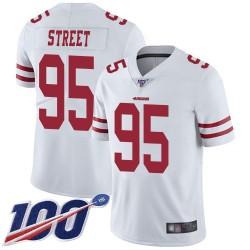 Limited Men's Kentavius Street White Road Jersey - #95 Football San Francisco 49ers 100th Season Vapor Untouchable