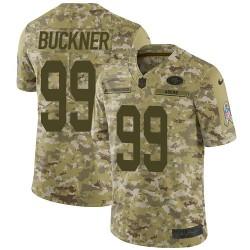 Limited Men's DeForest Buckner Camo Jersey - #99 Football San Francisco 49ers 2018 Salute to Service