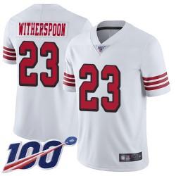 Limited Men's Ahkello Witherspoon White Jersey - #23 Football San Francisco 49ers 100th Season Rush Vapor Untouchable