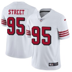 Limited Men's Kentavius Street White Jersey - #95 Football San Francisco 49ers Rush Vapor Untouchable