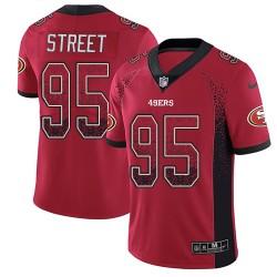 Limited Men's Kentavius Street Red Jersey - #95 Football San Francisco 49ers Rush Drift Fashion