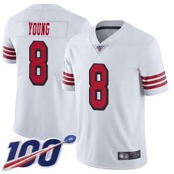 Limited Men's Steve Young White Jersey - #8 Football San Francisco 49ers 100th Season Rush Vapor Untouchable