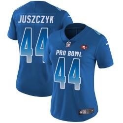 Limited Women's Kyle Juszczyk Royal Blue Jersey - #44 Football San Francisco 49ers NFC 2019 Pro Bowl