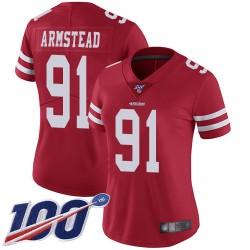 Limited Women's Arik Armstead Red Home Jersey - #91 Football San Francisco 49ers 100th Season Vapor Untouchable