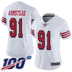 Limited Women's Arik Armstead White Jersey - #91 Football San Francisco 49ers 100th Season Rush Vapor Untouchable