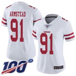 Limited Women's Arik Armstead White Road Jersey - #91 Football San Francisco 49ers 100th Season Vapor Untouchable