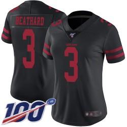 Limited Women's C. J. Beathard Black Alternate Jersey - #3 Football San Francisco 49ers 100th Season Vapor Untouchable
