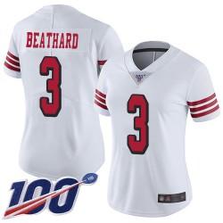 Limited Women's C. J. Beathard White Jersey - #3 Football San Francisco 49ers 100th Season Rush Vapor Untouchable