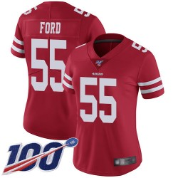 Limited Women's Dee Ford Red Home Jersey - #55 Football San Francisco 49ers 100th Season Vapor Untouchable