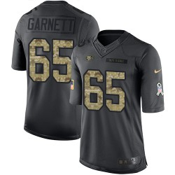 Limited Youth Joshua Garnett Black Jersey - #65 Football San Francisco 49ers 2016 Salute to Service