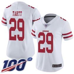 Limited Women's Jaquiski Tartt White Road Jersey - #29 Football San Francisco 49ers 100th Season Vapor Untouchable