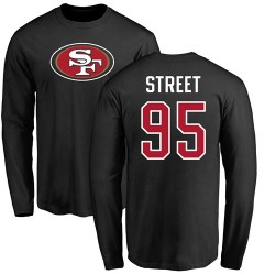 Kentavius Street Black Name & Number Logo - #95 Football San Francisco 49ers Long Sleeve T-Shirt
