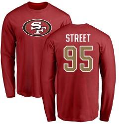 Kentavius Street Red Name & Number Logo - #95 Football San Francisco 49ers Long Sleeve T-Shirt