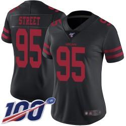 Limited Women's Kentavius Street Black Alternate Jersey - #95 Football San Francisco 49ers 100th Season Vapor Untouchable