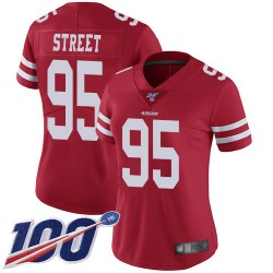 Limited Women's Kentavius Street Red Home Jersey - #95 Football San Francisco 49ers 100th Season Vapor Untouchable
