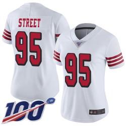Limited Women's Kentavius Street White Jersey - #95 Football San Francisco 49ers 100th Season Rush Vapor Untouchable