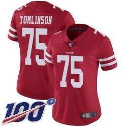 Limited Women's Laken Tomlinson Red Home Jersey - #75 Football San Francisco 49ers 100th Season Vapor Untouchable