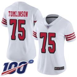 Limited Women's Laken Tomlinson White Jersey - #75 Football San Francisco 49ers 100th Season Rush Vapor Untouchable
