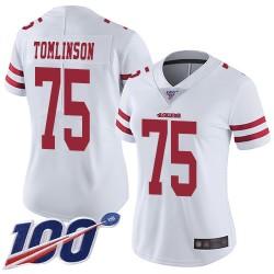 Limited Women's Laken Tomlinson White Road Jersey - #75 Football San Francisco 49ers 100th Season Vapor Untouchable