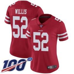 Limited Women's Patrick Willis Red Home Jersey - #52 Football San Francisco 49ers 100th Season Vapor Untouchable