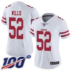 Limited Women's Patrick Willis White Road Jersey - #52 Football San Francisco 49ers 100th Season Vapor Untouchable