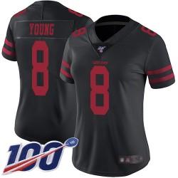 Limited Women's Steve Young Black Alternate Jersey - #8 Football San Francisco 49ers 100th Season Vapor Untouchable