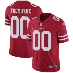 Limited Men's Red Home Jersey - Football Customized San Francisco 49ers Vapor Untouchable