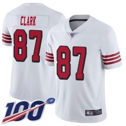 Limited Men's Dwight Clark White Jersey - #87 Football San Francisco 49ers 100th Season Rush Vapor Untouchable