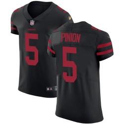 Elite Men's Bradley Pinion Black Alternate Jersey - #5 Football San Francisco 49ers Vapor Untouchable