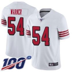 Limited Men's Fred Warner White Jersey - #54 Football San Francisco 49ers 100th Season Rush Vapor Untouchable